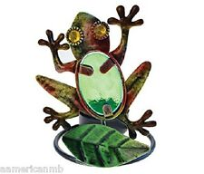 "Frog Metal Tealight Candle Holder Tea Light 3 1/2"" x 4 1/2"" Lake Life Tea Light"