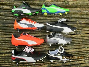 ASSORTED STYLES JNR Boys Puma  SG  Soft Ground Football Boots Soccer 10-6 STUDS