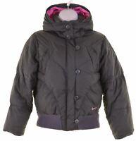 NIKE Girls Padded Jacket 10-11 Years Medium Grey Polyester  IZ18