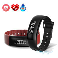 Smart Watch Blood Oxygen Heart Rate Monitor Fitness Tracker WristBand Bracelet
