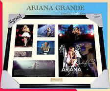 on sale! ARIANA GRANDE MEMORABILIA SIGNED FRAME,  LIMITED EDITION 499 w/ COA