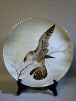 Large Saji Japanese fine china decorative plate and stand