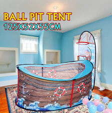 Portable Ocean Ball Pit Pool Game Play Tent Baby Kids Indoor Pirate Ship Gift
