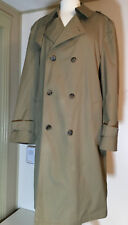 Botany Weathertopper Men's Trench winter coat size 44 Long Double breasted USA