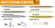 6 Savage Gear Line Thru Sandeel 15cm 27g- Meerforellenwobbler, Durchlaufblinker