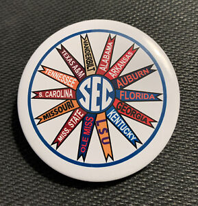 """SEC 2.25"""" Conference Button - College Football Southwestern Pin Gameday Pinwheel"""