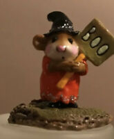 Wee Forest Folk Little Boo Halloween Limited Edition m-214 Retired Pumpkin
