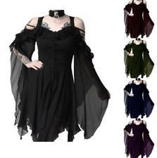 Halloween Mujeres de talla grande S-5XL irregular vestido espaguetis Correa Escote en V Faldas