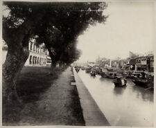 More details for c.1880's photo china - small boats shamian canton