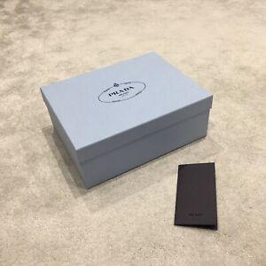 100% Authentic PRADA EMPTY SHOE/ GIFT BOX. (32x25x12cm) With Envelop+ Tissue