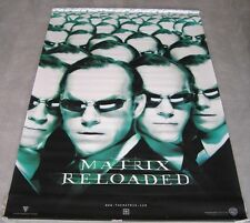 "MATRIX RELOADED Orig Advance Giant Banner Movie Poster 2003 71""x47"" ROLLED"