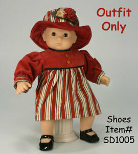 """New """"Corduroy Dress with Hat"""" fits 15"""" American Girl Bitty Baby - Outfit Only"""