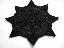 BAPHOMET CHAOS  BLACK IN BLACK  EMBROIDERED PATCH