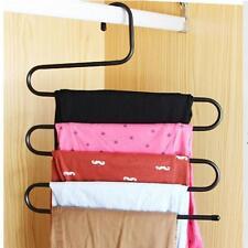2packs 5 Layers Multi-Purpose Pants Hanger Trousers Tie Towels Rack Holder