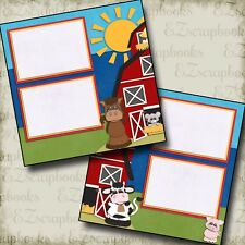 DOWN on the FARM - Premade Scrapbook Pages - EZ Layout 369
