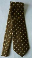 Cravate vert motif homme soie noeud vêtement accessoire neuf