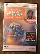 *NEW* Gretchen Cagle DVD Teaches Still Life GRAPES Oil Painting Mediums DVD