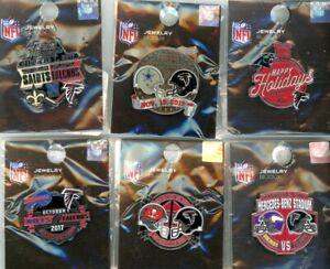 Falcons 2017 Game Day Pin Choice 6 pins Atlanta Cowboys Panthers Vikings Saints