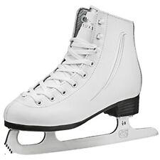 Lake Placid Cascade Girls Figure Ice Skate, White, Size 1