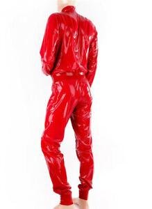 Gummi Catsuit Latex Cosplay Rubber Club Mantel Hose Anzug Beiläufig Kostüm 0,4mm