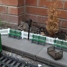 FIVE PLATFORM BENCHES FOR GARDEN RAILWAY. G SCALE