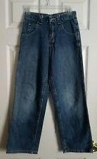 Lee Authentic No. 5541 Adjustable Waist Blue Jeans ~ Size 14 S ~ 24/25W 27L