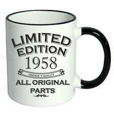 60th Birthday Novelty Cup Mug Coffee Tea Limited Edition 1958 All Original Parts