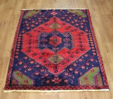 OLD WOOL HAND MADE  ORIENTAL FLORAL ALL  AREAS RUG CARPET 160 X 117 CM