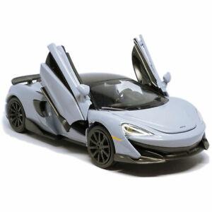 McLaren 600LT 2019 1/32 Model Car Alloy Diecast Toy Vehicle Kids Gift Grey-Blue