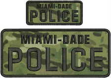 MIAMI DADE POLICE EMB PATCHE 4X10 AND 2X5 hook on back  LETTERS MULTICOM BG