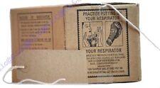 Wartime Memorabilia 1940's-Gas Mask Box & Luggage Label-Kids History School Set