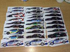 More details for 2021 btcc british touring cars championship sticker set of all 28 cars wsr laser