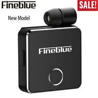 New Fineblue F1 Wireless Bluetooth Headset Vibrating Earphone Headphone w/Mic UP