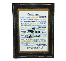 Camping entspannt Druck Poster A4 Wohnmobil Camper Caravan Geschenk AnneSvea