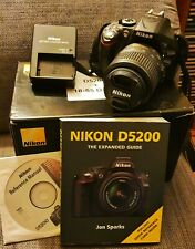 Nikon D5200 24.1MP Digital SLR Camera - Black