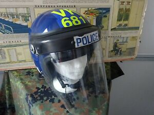 England Polizei Schutz-Helm Original mit org. Tasche und Visier