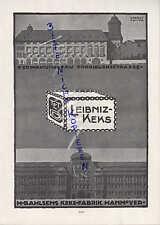 HANNOVER, Werbung 1916, H. Bahlsen Keks-Fabrik Verwaltungsbau Podbielskistraße