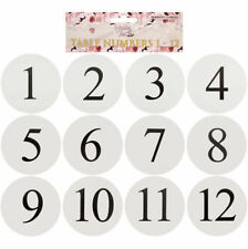 Wedding Event Party Table Number Plastic Place Cards 1-12. Double sided