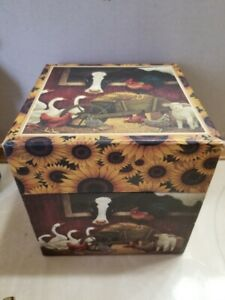 1 Bob's Boxes Nesting Box Hard Paper Cardboard Cows Cows Cows Sunflowers FS
