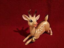 Vtg. Reindeer Light Tan Pearlescent Soft RubberJointed Head original bell Japan