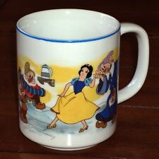 Walt Disney Coffee Mug Snow White and the Seven Dwarfs Cup Vintage Japan
