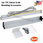 2/3 Axis Digital Readout  LCD TTL 5um Linear Glass Scale DRO Display CNC Milling