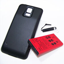 8900mAh Extended Life Battery+Black Cover for AT&T Samsung Galaxy S5 I9600 G900A