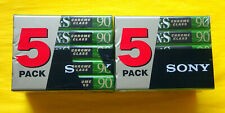 10x SONY UX-S 90 Cassette Tapes 1999 + OVP + SEALED +