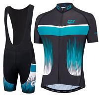 Didoo Mens Team Racing Cycling Jersey + Bib Short Set Road Team Racing Pro Bike