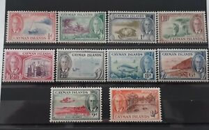Cayman Islands Stamps. 1950 George VI 10 × Pictorial Definitives to 1/- m.mint.