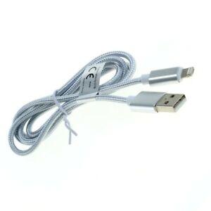 OTB Datenkabel 2in1 kompatibel iPhone/Micro-USB Nylonmantel 1,0m silber 8012830