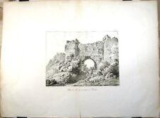 Lithographie de Bourgeois, 1818, Porte à Ephèse