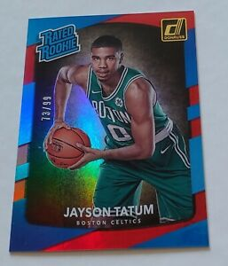 2017-18 Panini Donruss Jayson Tatum Rated Rookie Holo Red Laser RC #/99 Celtics