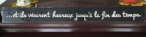 AND THEY LIVED HAPPILY EVER AFTER in FRENCH Wall Sign Decor Bedroom U Pick Color